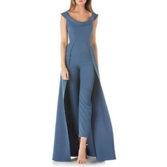 Kay Unger Dresses & Skirts - Kay Unger | Jumpsuit Gown dress in blue size 14